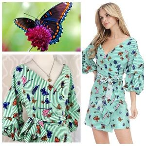 Dresses & Skirts - All Bugs Invited Garden Party Wrap Dress